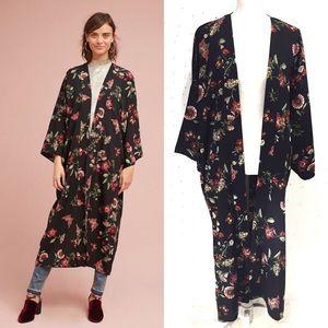 Anthropologie Mod Floral Long Kimono OS